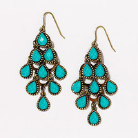 Turquoise Crystal Tiered Chandelier Earrings | Jewelry and Accessories | World Market