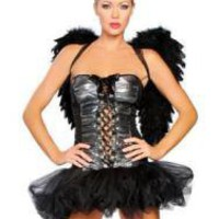 Sexy Black Strapless Devil Costume With Wings - Prices & Buy at ShopSimple.com