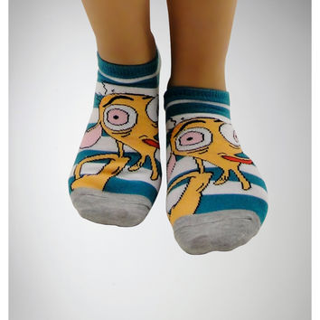 Ren & Stimpy No Show Socks 5 Pack