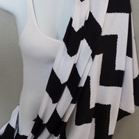 Chevron Nursing Blanket Black and White Chevron Infinity Scarf Womens Nursing Accessories Chevron Baby Blanket Fashion Nursing Scarf Loop