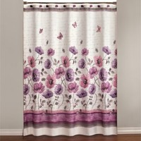 Floral Waltz 70-Inch x 72-Inch Shower Curtain
