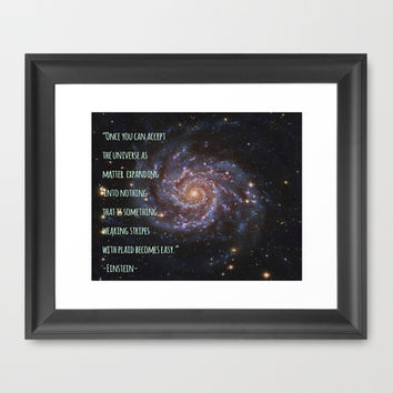 Einstein's Unified Fashion Theory Framed Art Print by Hoshizorawomiageteiru | Society6
