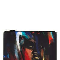 Givenchy Black Abstract Portrait Zip Pouch