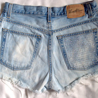 Bleached studded highwaisted levis by VintageFrays on Etsy