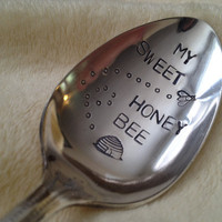 Recycled Silverware My Sweet Honey Bee  by BellaJacksonStudios