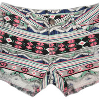 Charlotte Russe - Hot Kiss Aztec Print Short
