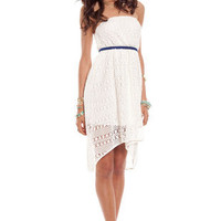 Lace Daze Dress in Ivory :: tobi