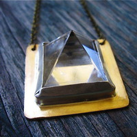 Gather Crystal Pyramid Necklace | La Dama