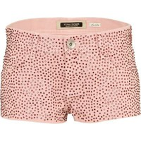 pink diamante denim hotpants - denim shorts - jeans - women - River Island