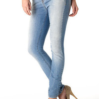 Alloy > Piper's Closet Faded Stretch Super-Skinny Jean > jeans > features > inseams up to 37