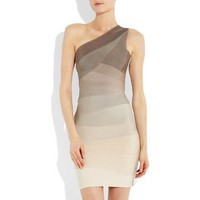 Asymmetric ombre bandage dress