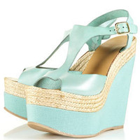 WHAMM Espadrille Leather Wedges - View All  - Shoes  - Topshop