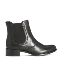 Dune Finn Leather Chelsea Boots - Black leather