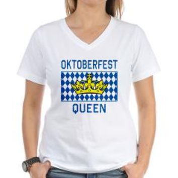 OKTOBERFEST Queen Women's V-Neck T-Shirt> OKTOBERFEST QUEEN > Scarebaby Design