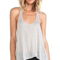 291 Fluid Racer Back Tank in Gray
