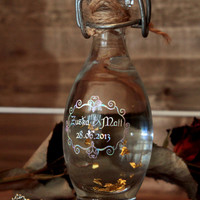 Wedding Potion Bottle in Fairy style with delicate metallic finish -  Personalized
