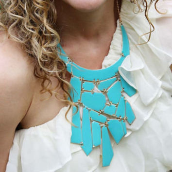 Mint & Nectar Necklace in Turquoise