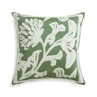 "Briar Green 20"" Pillow with Feather Insert"