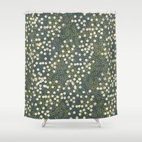 Society6 - Dots And Rings-grey Shower Curtain by Nandita Singh