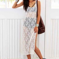 Urban Renewal Sheer Lace Tank Dress - Urban Outfitters