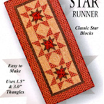 Rising Star Runner by Graywood Designs, Classic Star Blocks, Table Runner Pattern