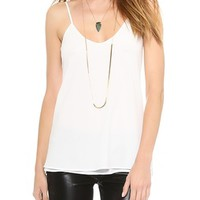 Crepe Low Back Camisole