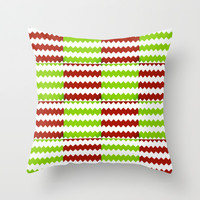 square chevron Throw Pillow by  Alexia Miles photography