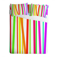 Lisa Argyropoulos Bold Rainbow Stripes Sheet Set
