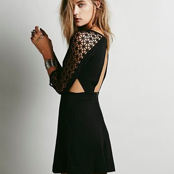 Free People Life in the Fast Lane Cutout Dress