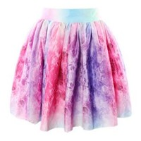 Mini Galaxy Print Ruffle Mini