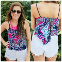 Passion For Paisley Crop Top