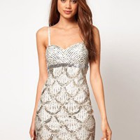 Lipsy | Lipsy VIP Bandeau Embellished Dress at ASOS