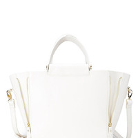 Faux Leather Trapeze Bag