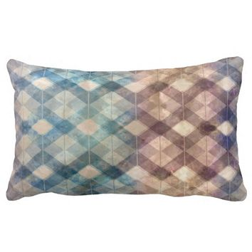 pattern background lumbar pillow