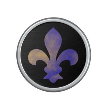 Royal Blue Gold Fleur de Lis Bluetooth Speaker