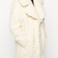 ASOS Faux Curly Fur Coat