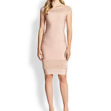 Herve Leger - Scalloped Stud Bandage Dress - Saks Fifth Avenue Mobile