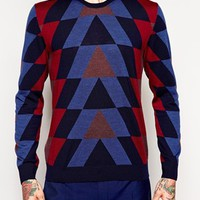 PS by Paul Smith Jumper with Geometric Pattern at asos.com