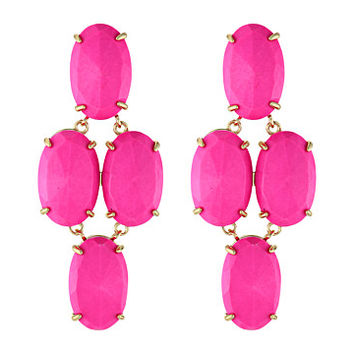 Kendra Scott Steph Earring Gold Magenta Magnesite - Zappos.com Free Shipping BOTH Ways