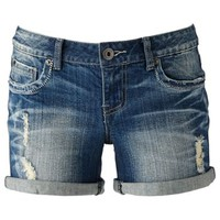 Mudd® Distressed Cuffed Boyfriend Shortie Shorts - Juniors
