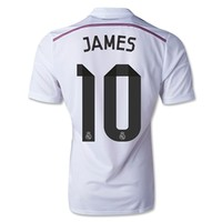 Real Madrid 14/15 JAMES Authentic Home Soccer Jersey - WorldSoccerShop.com