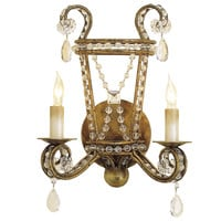 Gold Crystal Dripping Sconce - Belle Escape