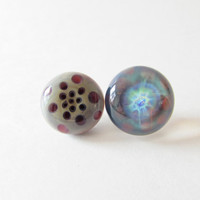 Glass Hat Pins - Borosilicate Glass - Set of 2
