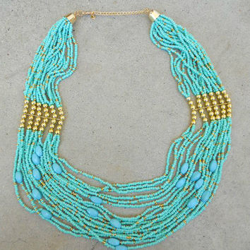 Beaded Trance Indie Necklace [5916] - $20.70 : Vintage Inspired Clothing & Affordable Dresses, deloom | Modern. Vintage. Crafted.