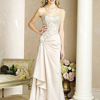 Buy discount Beautiful Elegant Taffeta Sheath Strapless Wedding Dress In Great Handwork at dressilyme.com