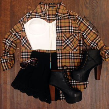 Richie Plaid Button Up