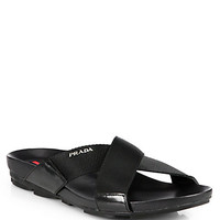 Prada: Leather Sandals