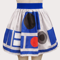 Printed R2 D2 Inspired Skirt by GoChaseRabbits on Etsy