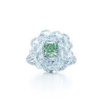 Tiffany & Co. - Fancy Vivid Green<br>Diamond Ring