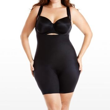 Plus Size Spanx Mid-Thigh Bodysuit | Fashion To Figure